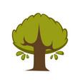 green tree flat icon eco nature symbol of vector image