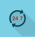 24-7 icon set of great flat icons with style vector image vector image