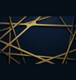 abstract luxury gold and dark blue background vector image vector image