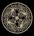 ancient celtic mythological symbol of bird celtic vector image vector image