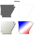 Arkansas outline map set vector image vector image