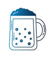 beer glass foam drink celebration vector image vector image