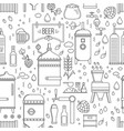 beer production pattern seamless vector image vector image