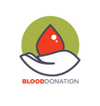 blood donation agitative poster to encourage for vector image