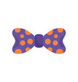 bow tie orange circle icon flat style vector image vector image