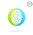 Brain medical icon vector image vector image