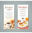 Breakfast Banners Set vector image vector image
