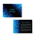 bright greeting card with neon light vector image vector image
