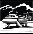 business jet vector image vector image
