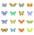 Butterfly fairy icons set cartoon style vector image vector image