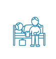 care of the patient linear icon concept care of vector image vector image