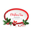 christmas red frame vector image