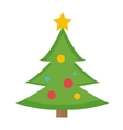 Christmas tree icon Isolated on white vector image