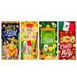cinco de mayo mexican holiday fiesta banners vector image vector image