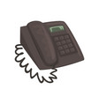 classic office phone cartoon vector image