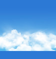 clouds in sky realistic fluffy cloudy smog light vector image