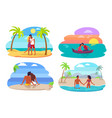 couples collection seaside vector image vector image