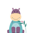 cute hippo poster for baby room