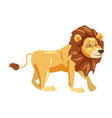 cute lion animal trend cartoon style vector image