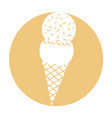delicious ice cream cone vector image vector image