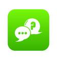 dialog icon green vector image vector image