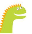 dinosaur face cute cartoon funny dino baby vector image