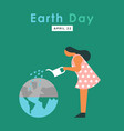 earth day card concept planet water care vector image
