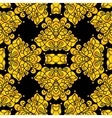 Elegant black and gold creative seamless pattern vector image