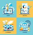 flat design concepts for startup analytics vector image