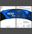 flyer template with blue bent strip vector image vector image