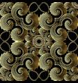 geometric gold 3d swirls greek key meander vector image vector image