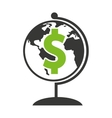 global planet with economy icon vector image vector image