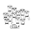 Graphic With Group Of Smiliing Meerkats vector image vector image