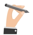 hand holding pencil vector image vector image