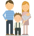 Happy family portrait gesturing with vector image