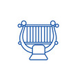 harpstring classical music line icon concept vector image vector image
