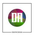 initial letter da logo template design vector image