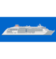 ocean liner on a blue background vector image