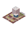 offices isometric town apartment building vector image vector image