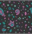 paisley indian flower seamless pattern vector image vector image