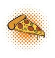Pizza slice comics icon vector image vector image