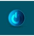 power blue button vector image