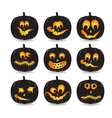 pumpkin faces vector image vector image