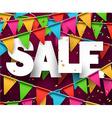 Sale celebration background vector image