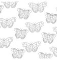 seamless pattern decoration natural butterfly fly vector image