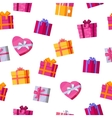 Seamless Pattern Gift Boxes vector image vector image