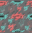 seamless pattern with lips and vector image vector image