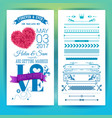 sentimental blue wedding invitation design image vector image vector image