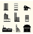 set buildings vector image vector image