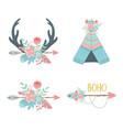 set decorations boho style vector image